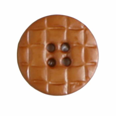 20mm Brown 4 Hole Polyamide Button 2 per Card