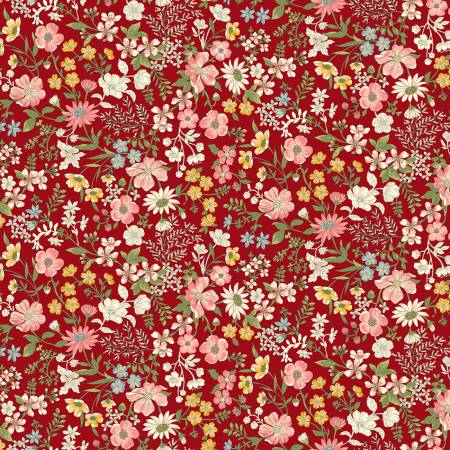 Collectable Calicos Red June Calico Flowers R210870-0111