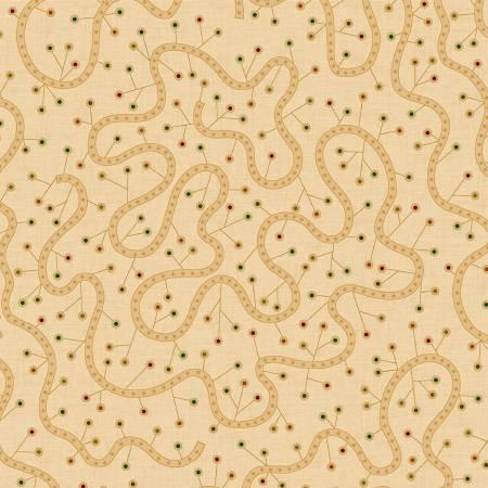 Q - Spiced 108 -  Beige Swirly Vine by Kim Diehl