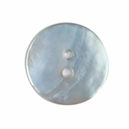 5/8in White Natural Pearl 2 Hole Button 2 per card