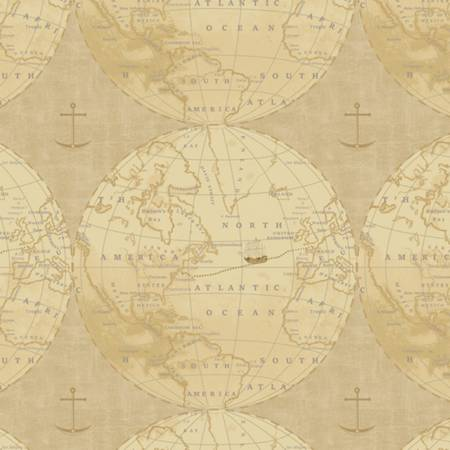 Journey to America - Tan Map