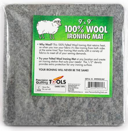 0909WOOLMAT Wool Ironing Mat 9in x 9in