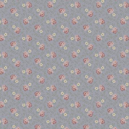 Cream Roses on Gray Background