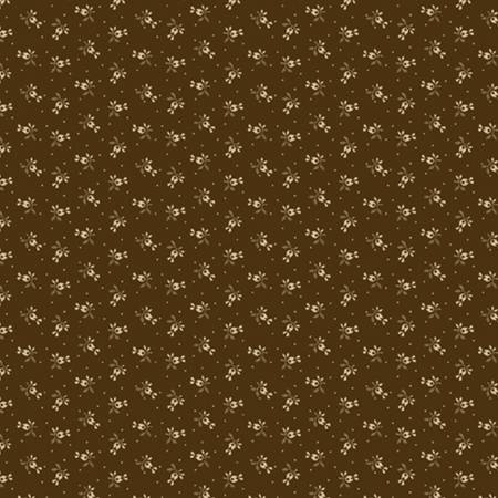 Little Companion Shirtings - Brown Sprigs