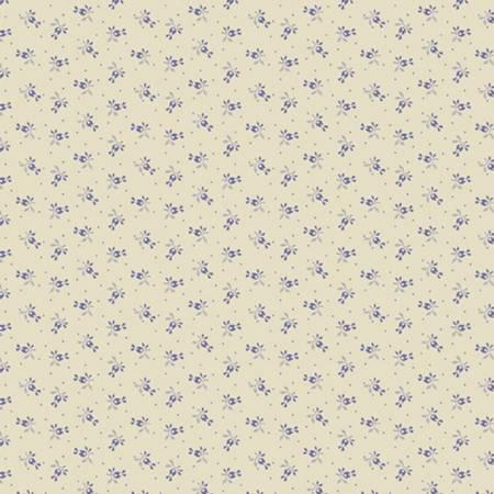 Little Companion Shirtings - Cream Sprigs