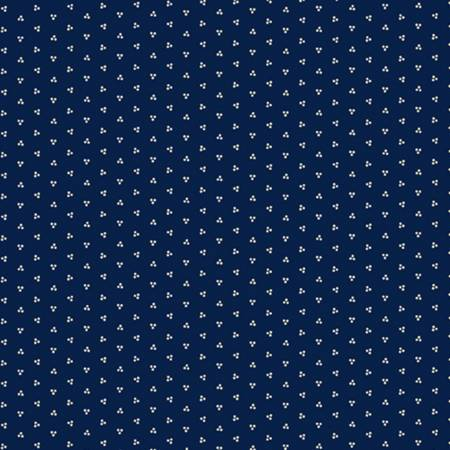 Little Companion Shirtings - Navy Dots