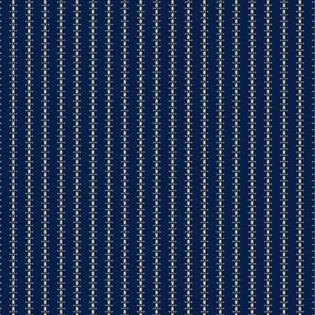 Little Companions Shirtings Navy Stripe