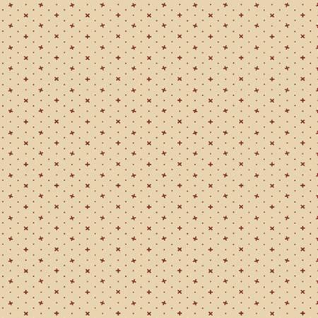 Little Companion Shirtings - Cream Plus Sign