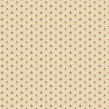 Little Companion Shirtings - Cream Triple Diamonds