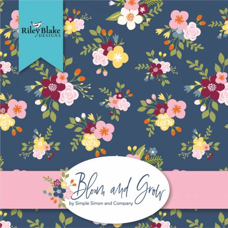 Bloom And Grow 10in Squares by Simple Simon and Company