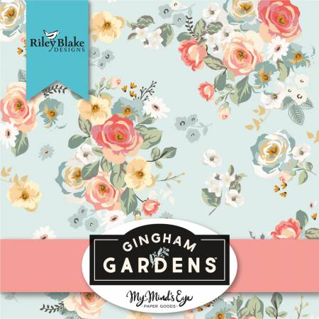 Gingham Gardens 10 inch Squares (42 pieces) - My Mind?s Eye - Riley Blake Designs