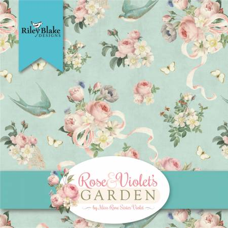 Rose Violets Garden 10in Squaers, 42pcs,