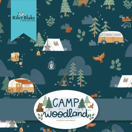 Camp Woodland 10in Squares by Natalia Juan Abello