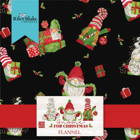 Gnome For Christmas Flannel 10 Squares