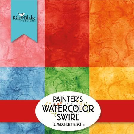 Painters Swirl 10 Inch Stacker, 42pcs