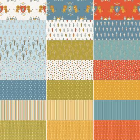 Riley Blake LANCELOT 10in Squares 42pcs/bundle