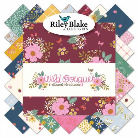 Bouquet 10in Squares 42pcs,