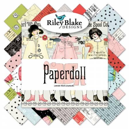 Riley Blake Paperdoll 10in Squares 42pcs