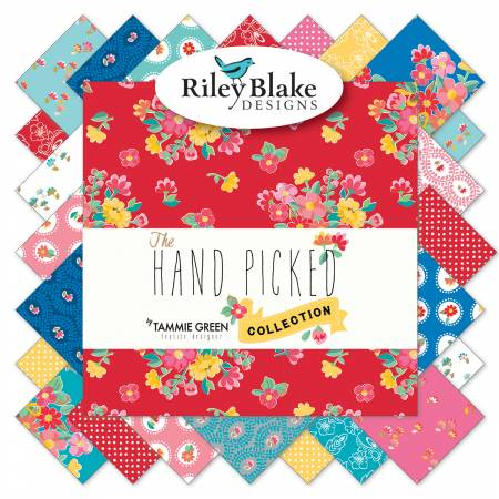 Riley Blake The Hand Picked Collection 10in Squares, 42 Pcs