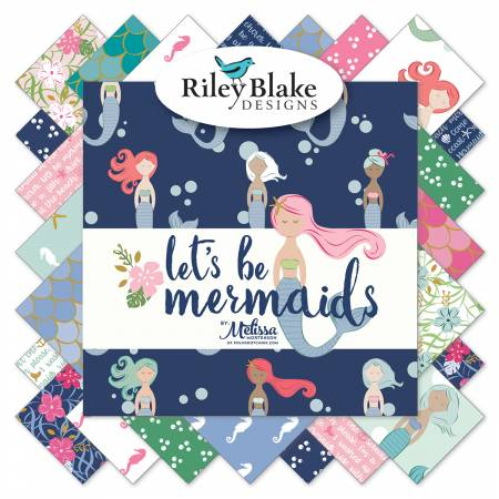 Let's Be Mermaids Layer Cake