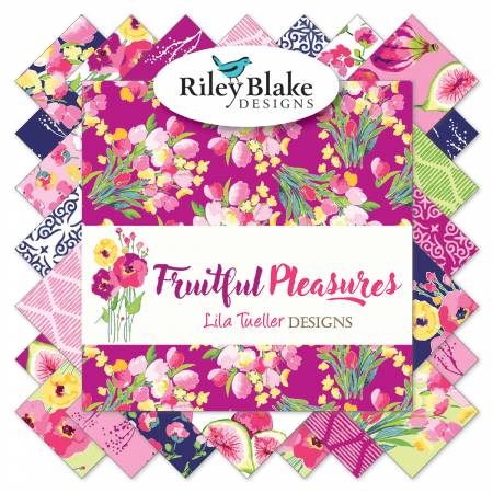 Riley Blake Fruitful Pleasures 10in Squares, 42 Pcs