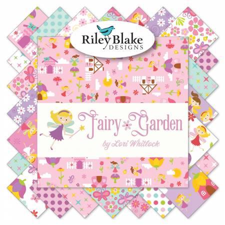 Fairy Garden 10in Squares, 42 Pcs