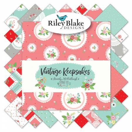 Vintage Keepsakes 10in Squares, 3 bundles/pack