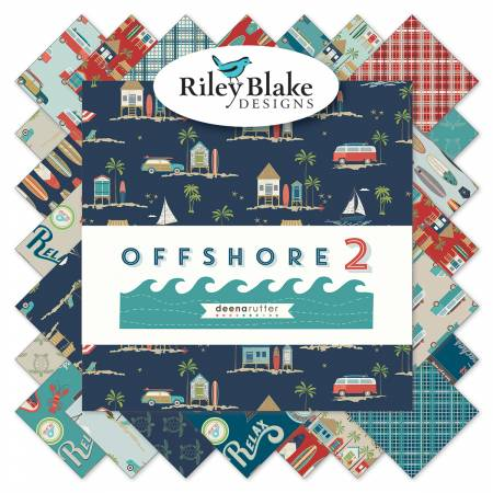 Off Shore 2 10in Squares, 42pcs,