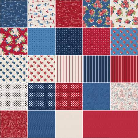 Harry & Alice Go To The Sea 10in Squares, 42pcs, 3 bundles/pack