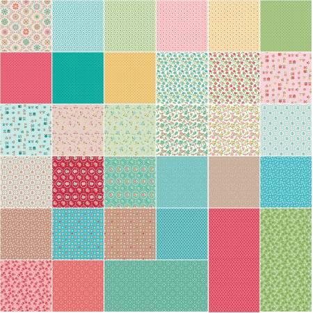 Granny Chic 10in Squares, 42pcs, 3 bundles/pack