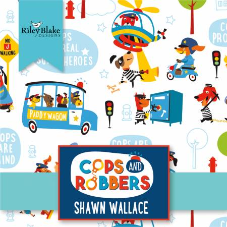10in Squares Cops And Robbers 42pcs