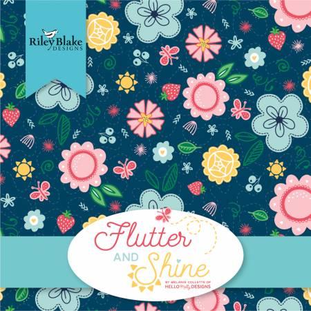 10in Squares Flutter & Shine, 42pcs