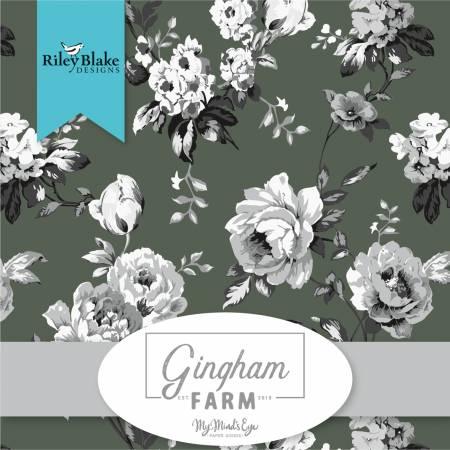10in Squares Gingham Farm, 42pcs, 3 bundles per pack