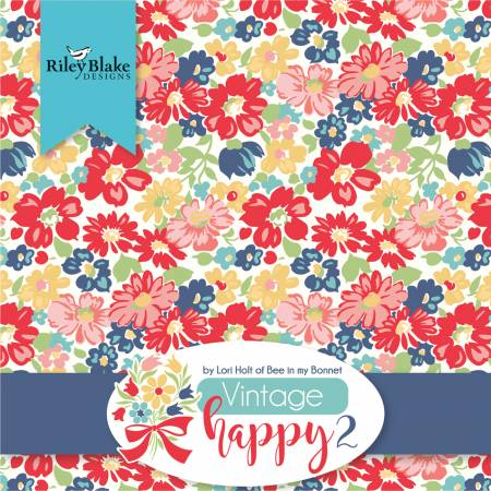 10in Squares Vintage Happy 2, 42pcs, 3 bundles per pack