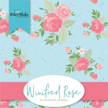 10in Squares Winfred Rose, 42pcs