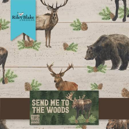 Riley Blake - Send Me To The Woods 10 Squares, 42pcs