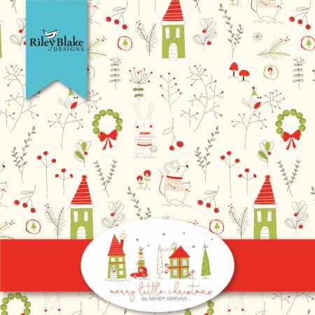 Merry Little Christmas 10 x 10 Squares (42 Pieces) (Sandy Gervais)