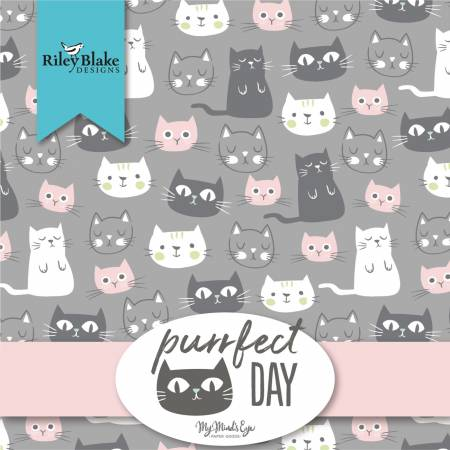 10in Squares Purrfect Day, 42pcs, 3 bundles/pack
