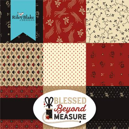 Riley Blake 10in Squares, Blessed Beyond Measure, 42pcs