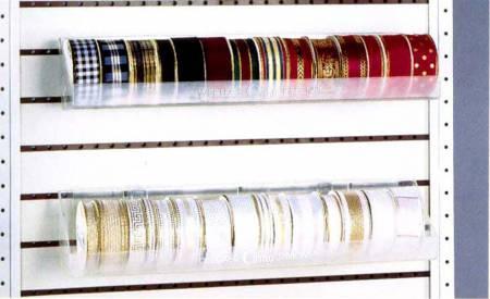 Satin & Grosgrain Ribbon Clear Plastic Tray