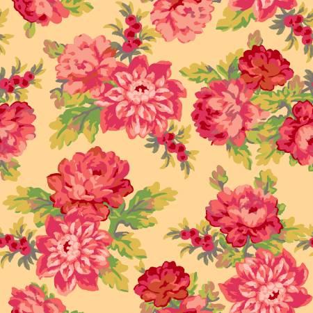Sweet Beginnings Yellow Focal Floral by Jera Brandvig for Maywood Studio
