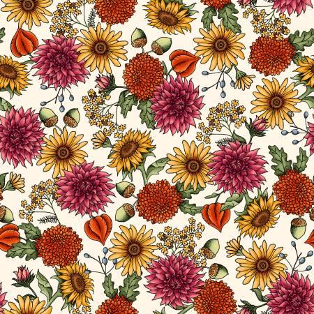 Sweater Weather - Cream Flowers