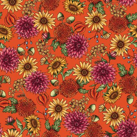Sweater Weather - Orange Flowers