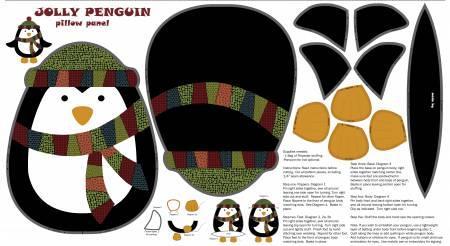 Multi Jolly Penguin Panel