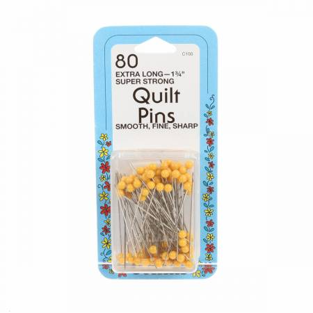 Quilting Yellow Head Pin Size 28 - 1 3/4in 80ct