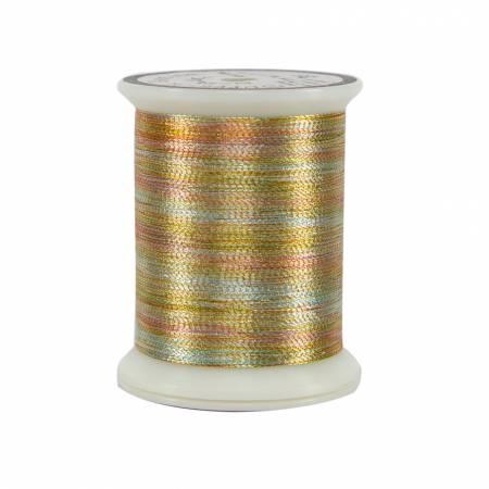 #25 Metallic Thread 500yds Variegated Gold
