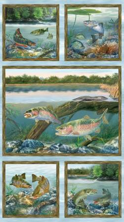 Multi Fish First Catch /23x44 Panel/Wilmington/10144-472