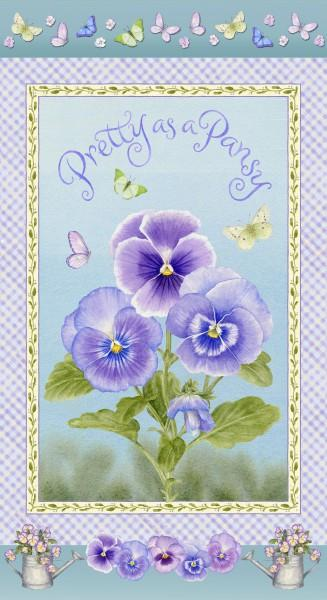 Henry Glass - Pretty as a Pansy-Pansy Panel - 1015P-15 - SALE N-5