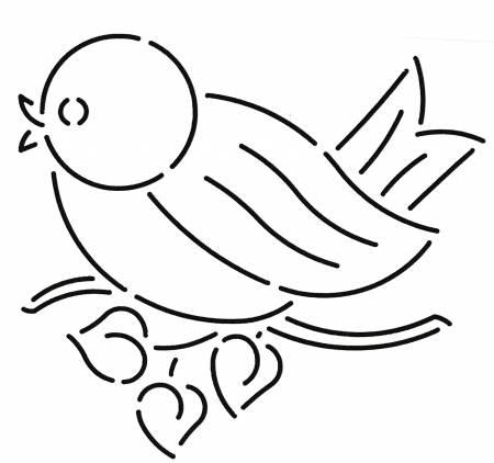 Quilt Stencil Blue Bird