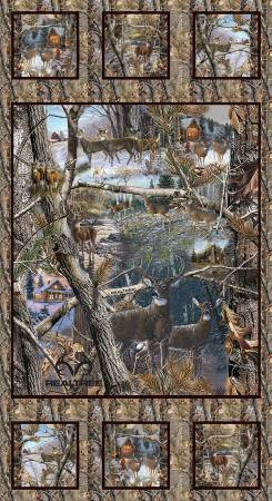 Realtree Winter Panel Cotton